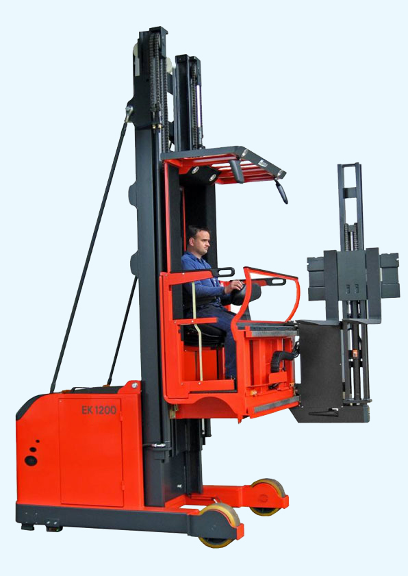 The EK series represents the most versatile line up of turret style forklifts