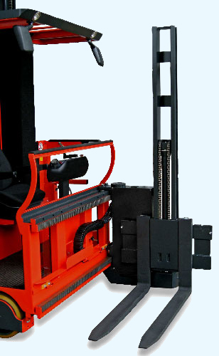 Standard MSG 320 turret on the EK series forklift