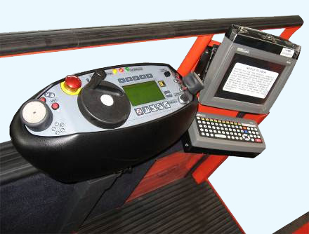 Twist grip control console with RF data terminal