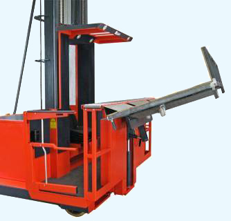 Roll handling order selecting forklift